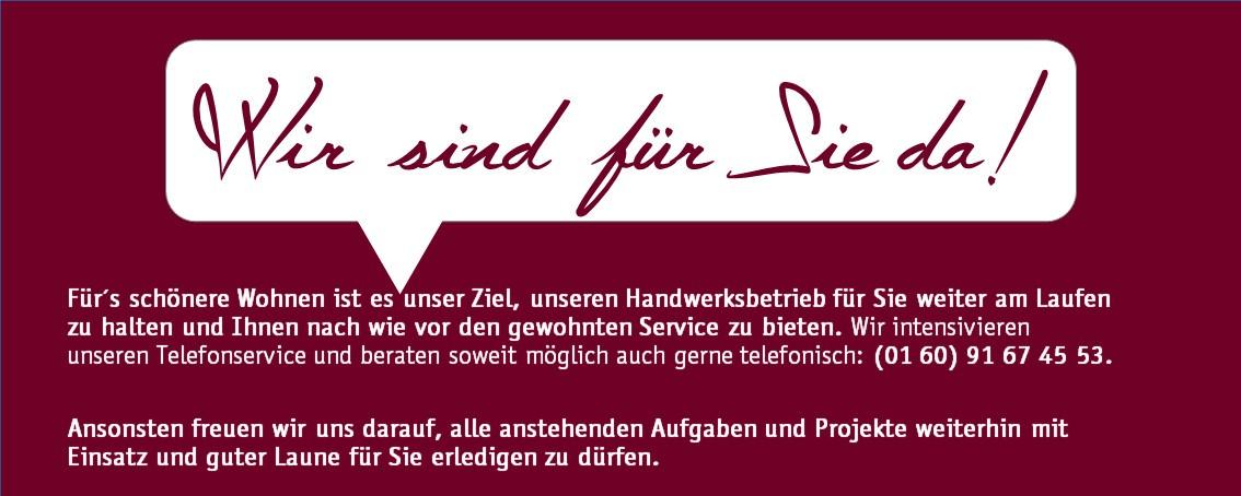 Högemann - Wir sind weiter für Sie da